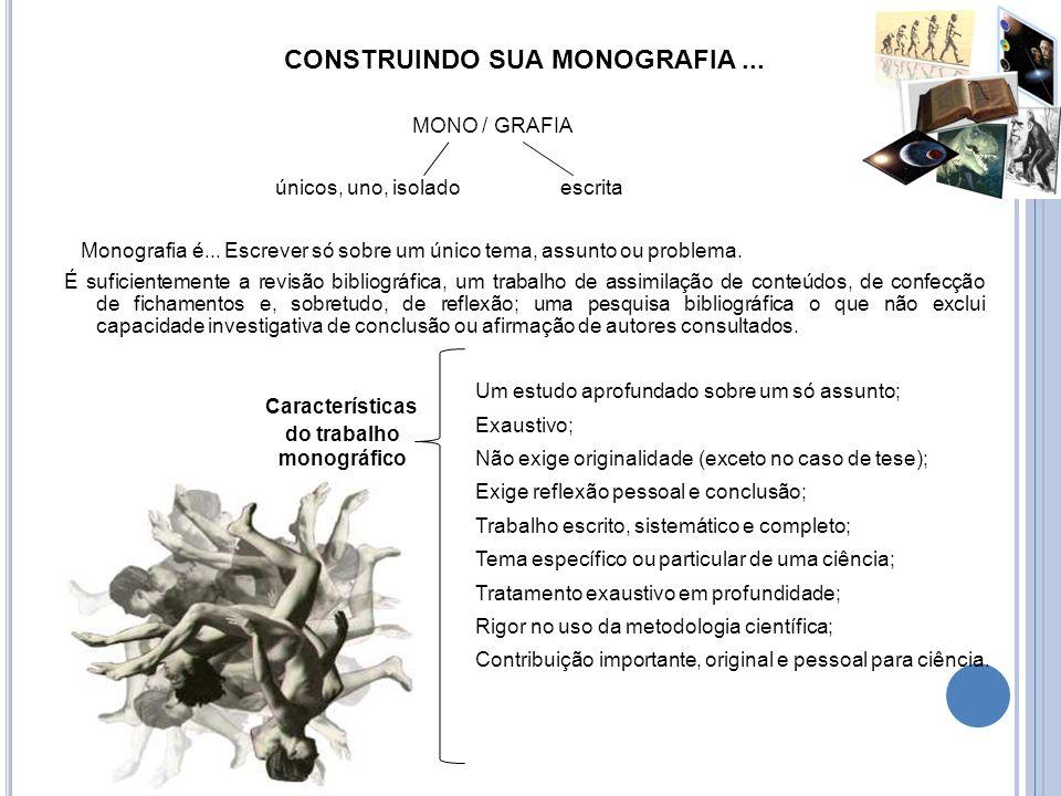 CONSTRUINDO SUA MONOGRAFIA ...