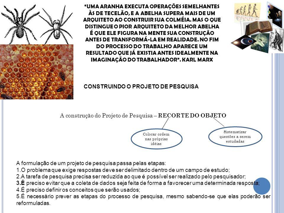 CONSTRUINDO O PROJETO DE PESQUISA