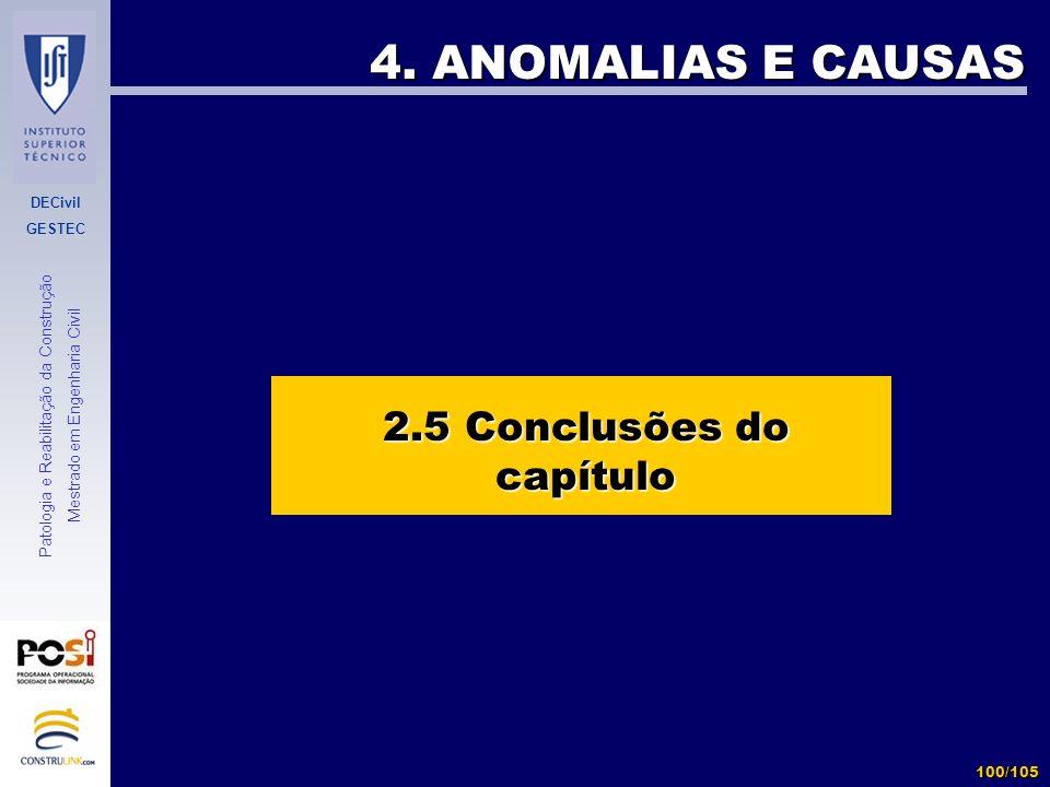 2.5 Conclusões do capítulo