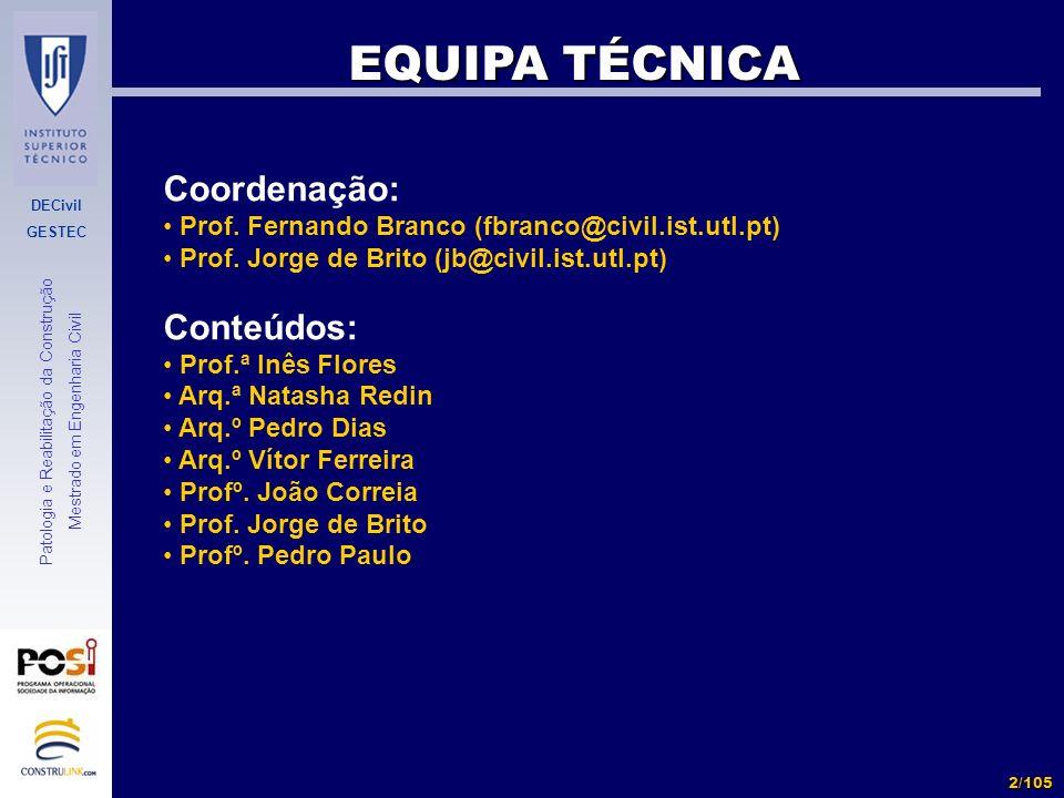 EQUIPA TÉCNICA Coordenação: Conteúdos: