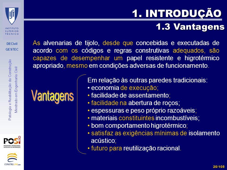 1. INTRODUÇÃO 1.3 Vantagens.