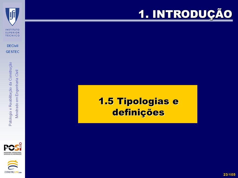 1.5 Tipologias e definições