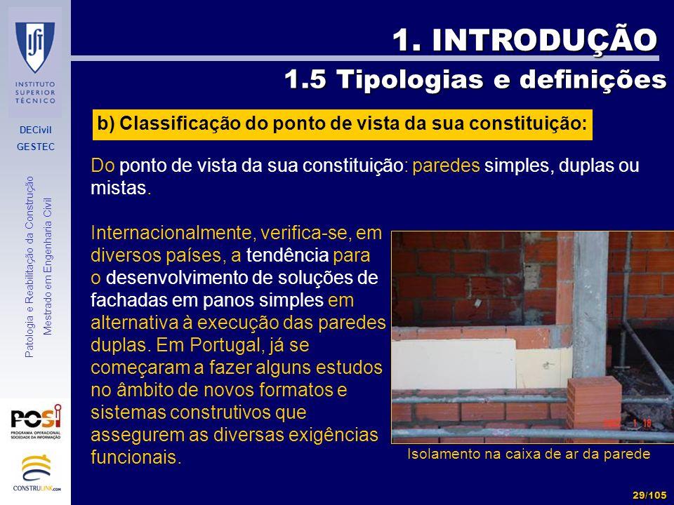1. INTRODUÇÃO 1.5 Tipologias e definições