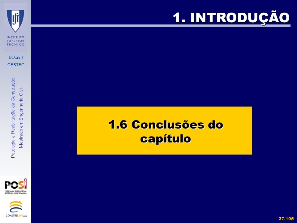1.6 Conclusões do capítulo