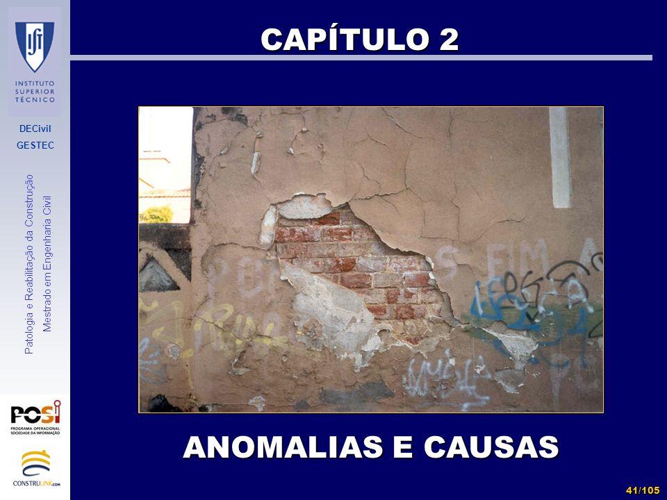 CAPÍTULO 2 ANOMALIAS E CAUSAS