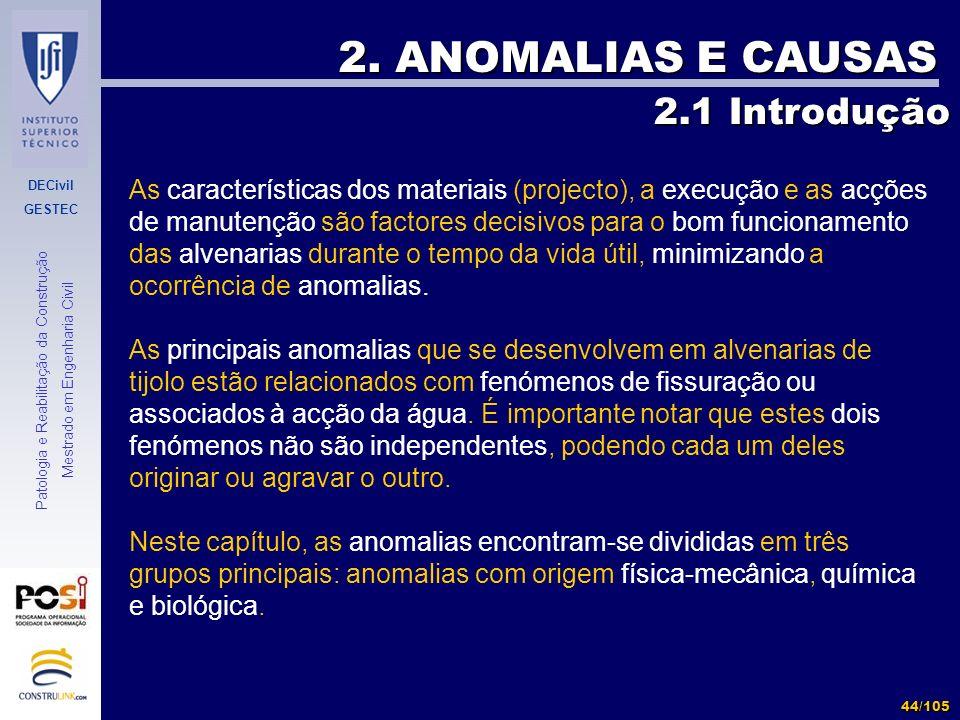 2. ANOMALIAS E CAUSAS 2.1 Introdução