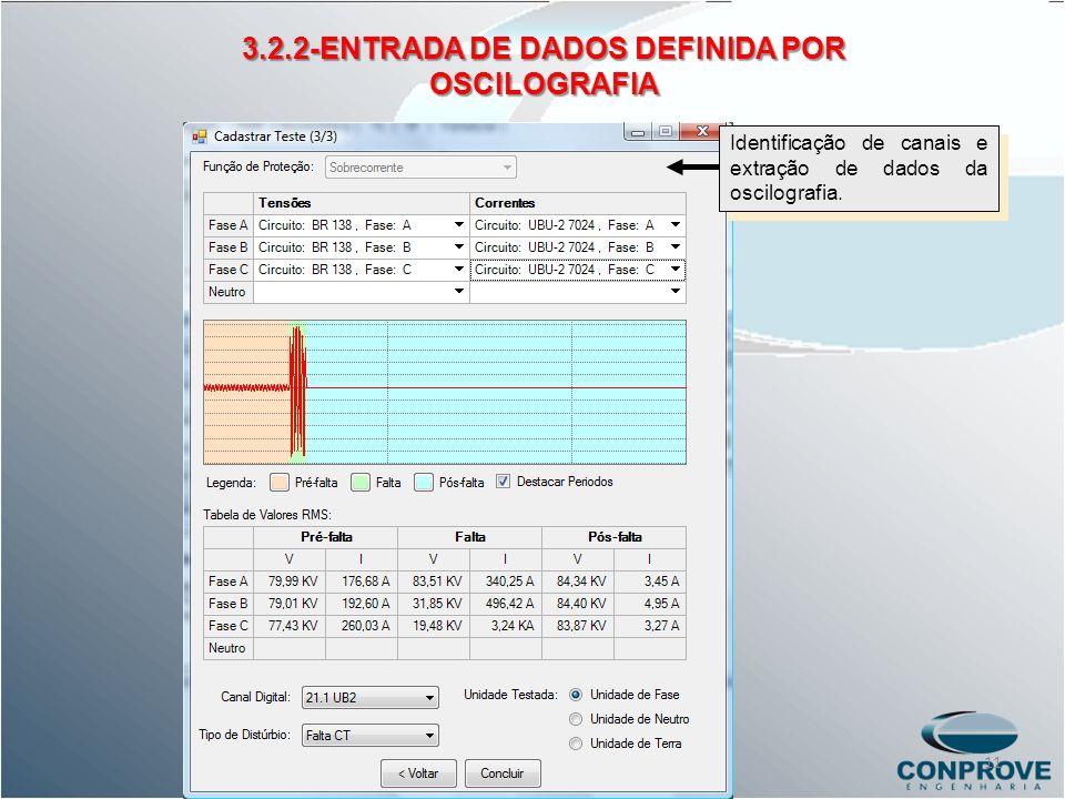 3.2.2-ENTRADA DE DADOS DEFINIDA POR OSCILOGRAFIA