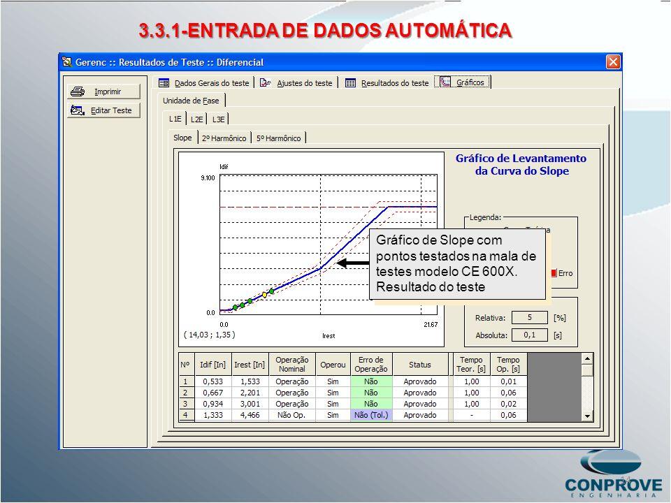 3.3.1-ENTRADA DE DADOS AUTOMÁTICA