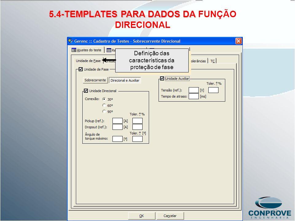 5.4-TEMPLATES PARA DADOS DA FUNÇÃO DIRECIONAL