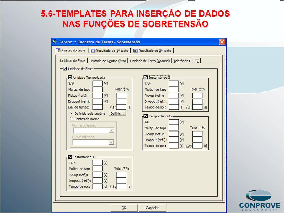 5.6-TEMPLATES PARA INSERÇÃO DE DADOS NAS FUNÇÕES DE SOBRETENSÃO