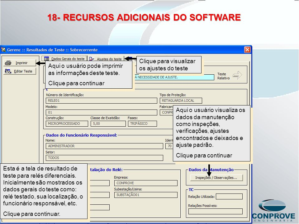 18- RECURSOS ADICIONAIS DO SOFTWARE