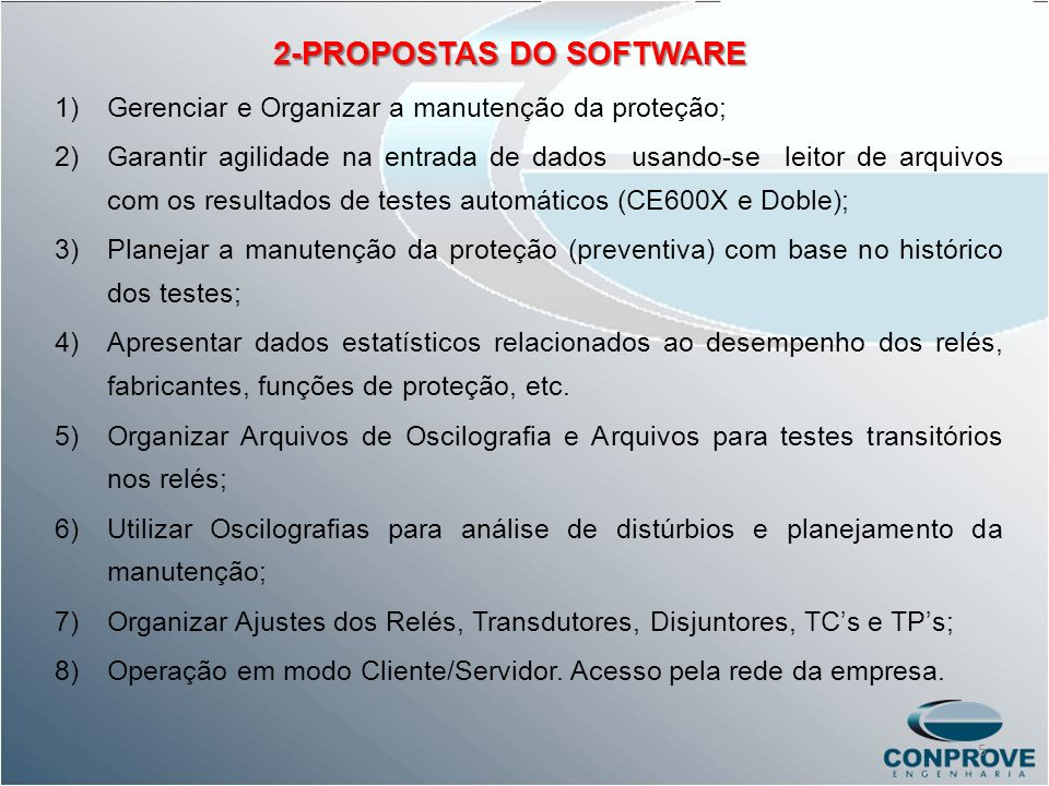2-PROPOSTAS DO SOFTWARE
