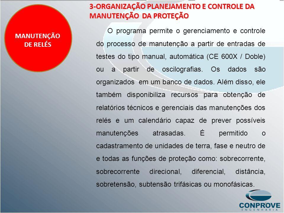 3-ORGANIZAÇÃO PLANEJAMENTO E CONTROLE DA MANUTENÇÃO DA PROTEÇÃO