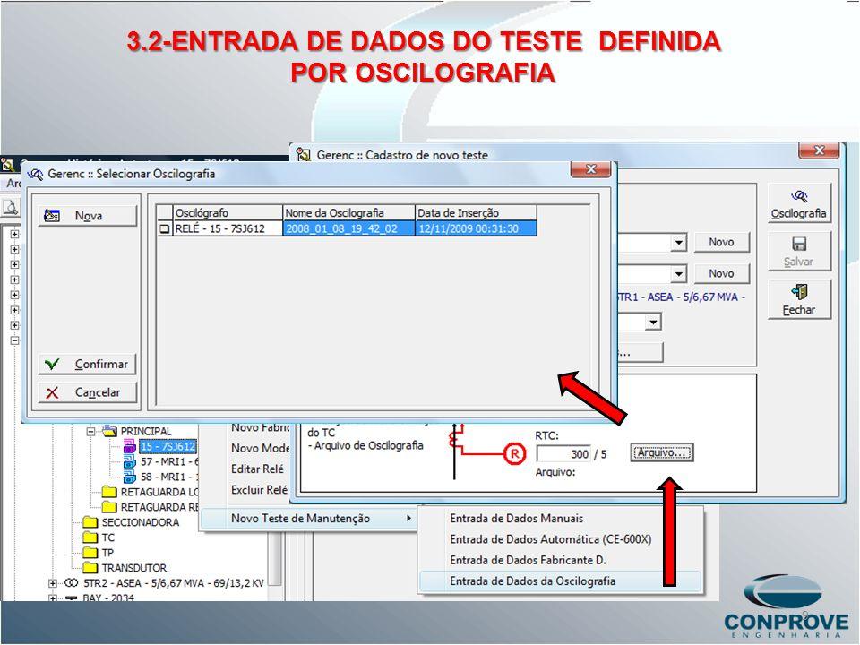 3.2-ENTRADA DE DADOS DO TESTE DEFINIDA
