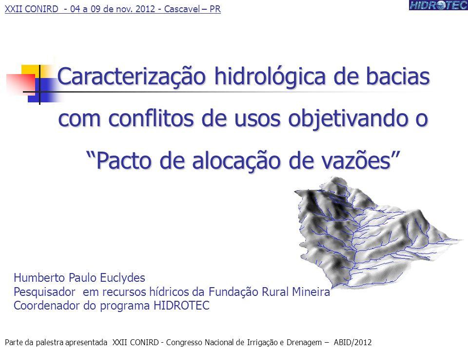 Produtor de Água XXII CONIRD - 04 a 09 de nov. 2012 - Cascavel – PR.