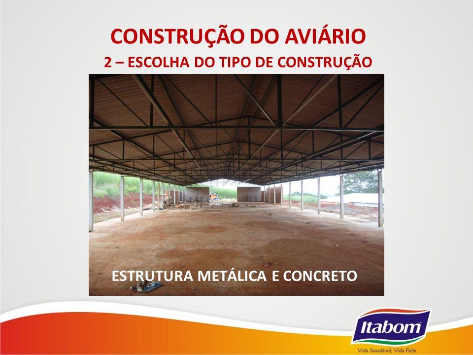 2 – ESCOLHA DO TIPO DE CONSTRUÇÃO ESTRUTURA METÁLICA E CONCRETO