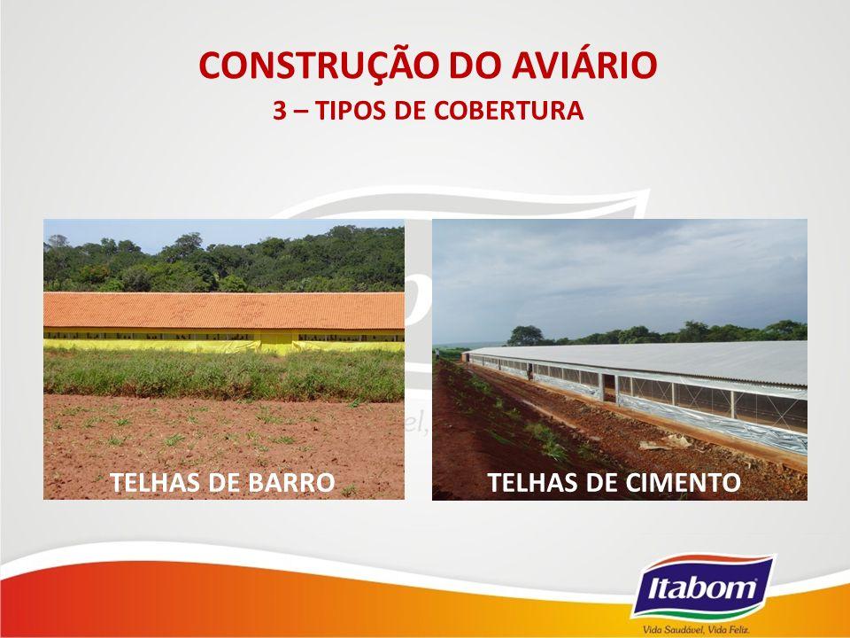 CONSTRUÇÃO DO AVIÁRIO 3 – TIPOS DE COBERTURA TELHAS DE BARRO
