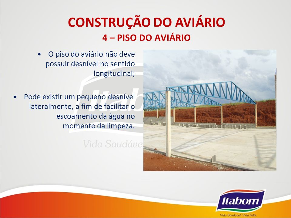 CONSTRUÇÃO DO AVIÁRIO 4 – PISO DO AVIÁRIO