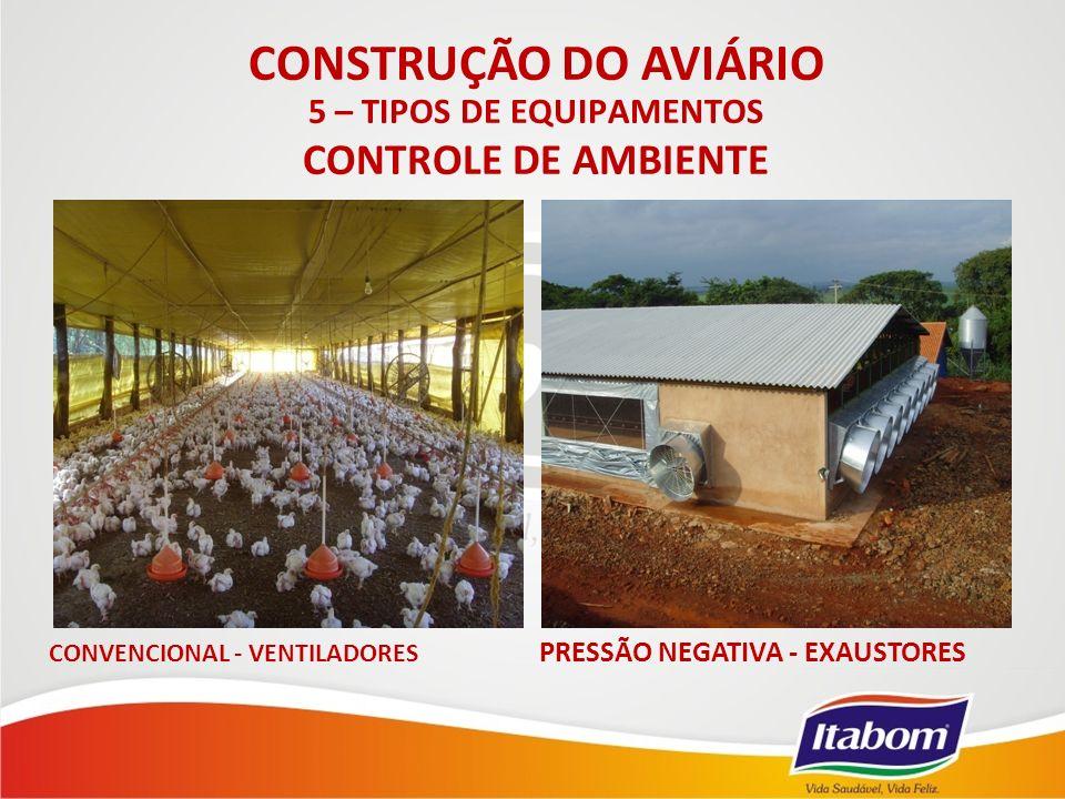 CONSTRUÇÃO DO AVIÁRIO CONTROLE DE AMBIENTE 5 – TIPOS DE EQUIPAMENTOS