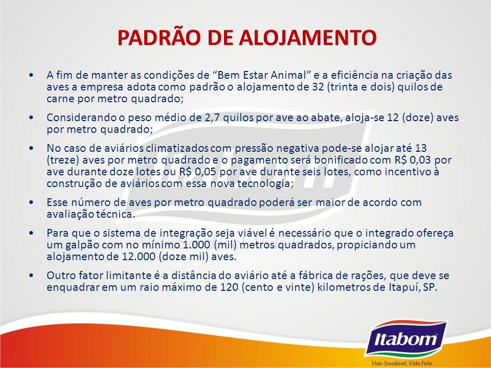 PADRÃO DE ALOJAMENTO