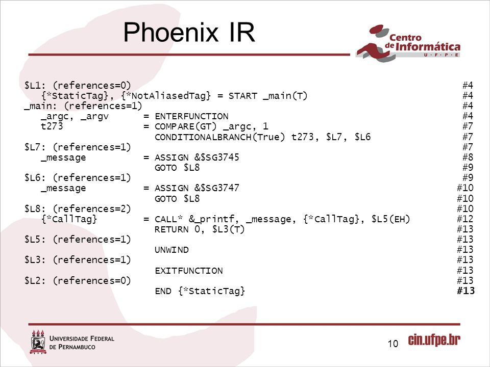 Phoenix IR $L1: (references=0) #4