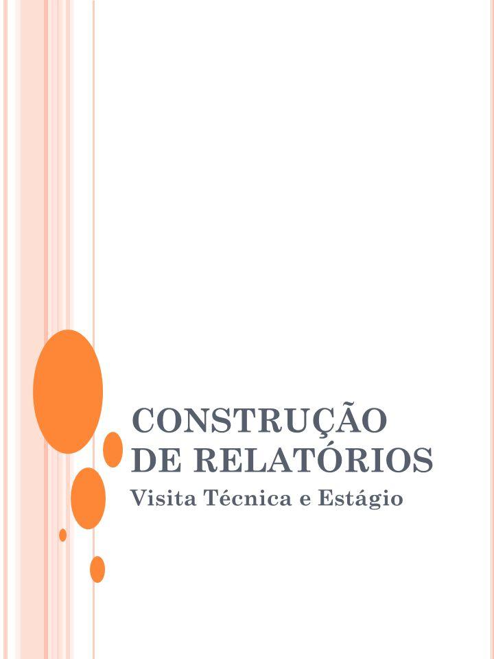 CONSTRUÇÃO DE RELATÓRIOS