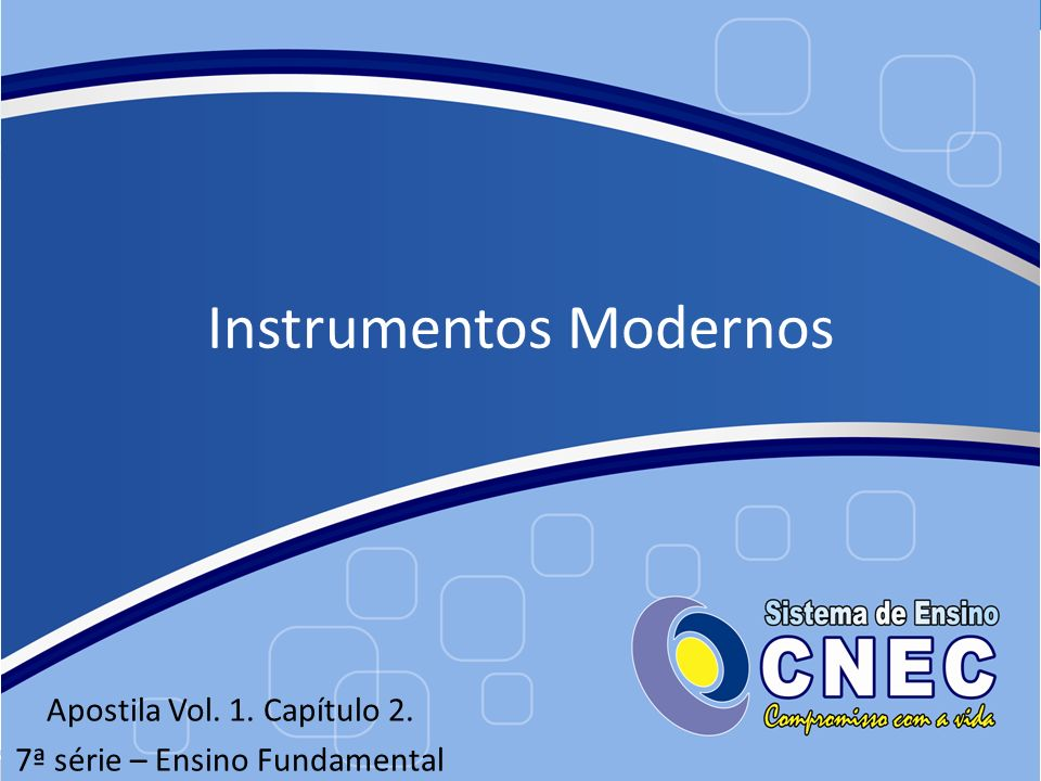 Instrumentos Modernos
