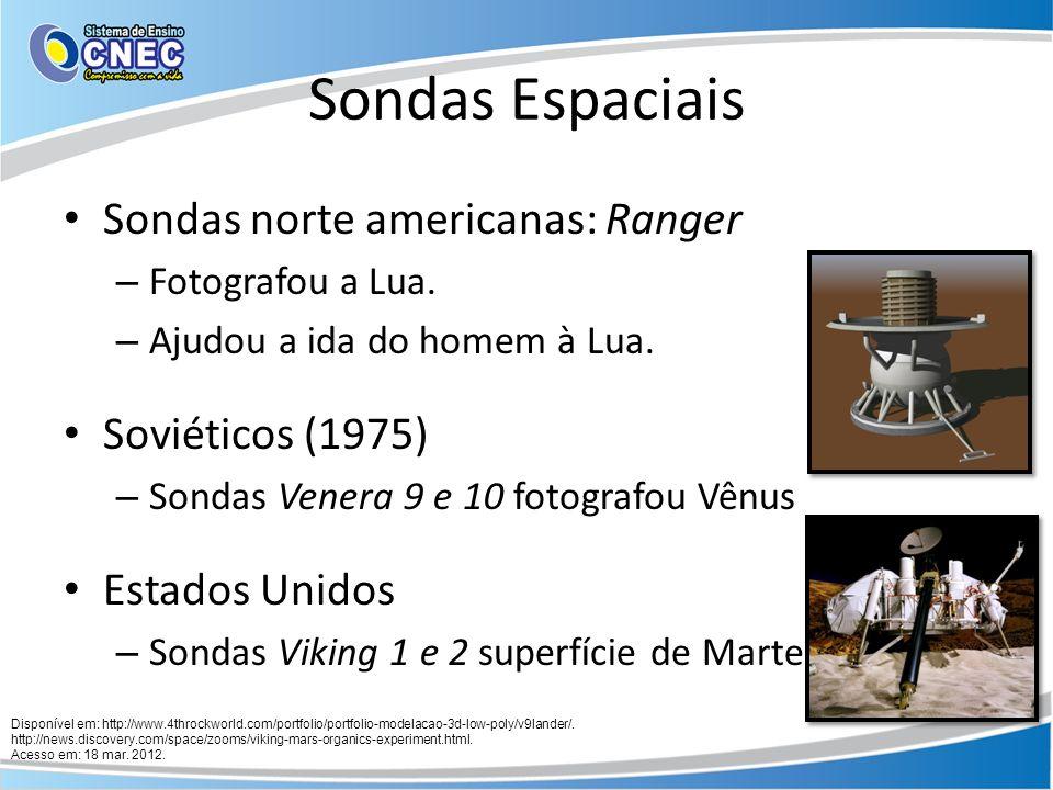 Sondas Espaciais Sondas norte americanas: Ranger Soviéticos (1975)