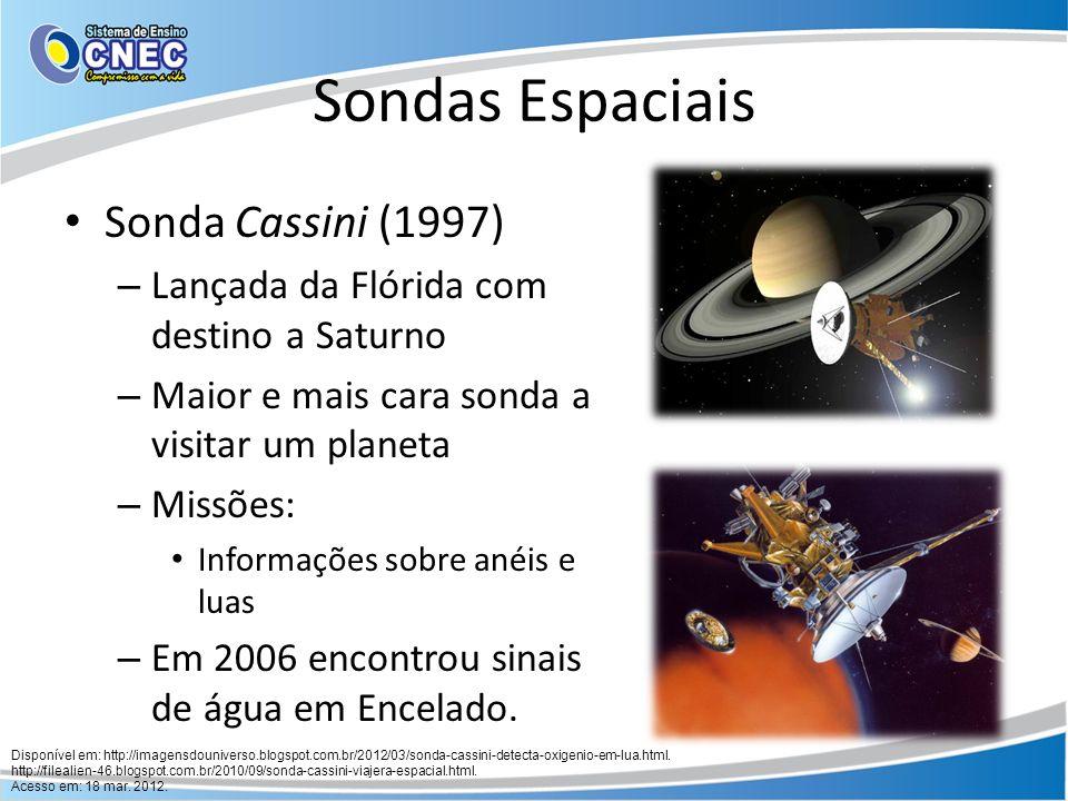 Sondas Espaciais Sonda Cassini (1997)