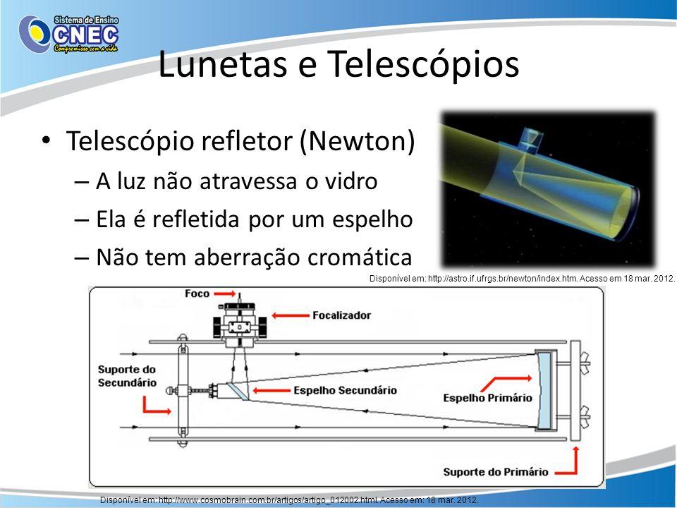 Lunetas e Telescópios Telescópio refletor (Newton)