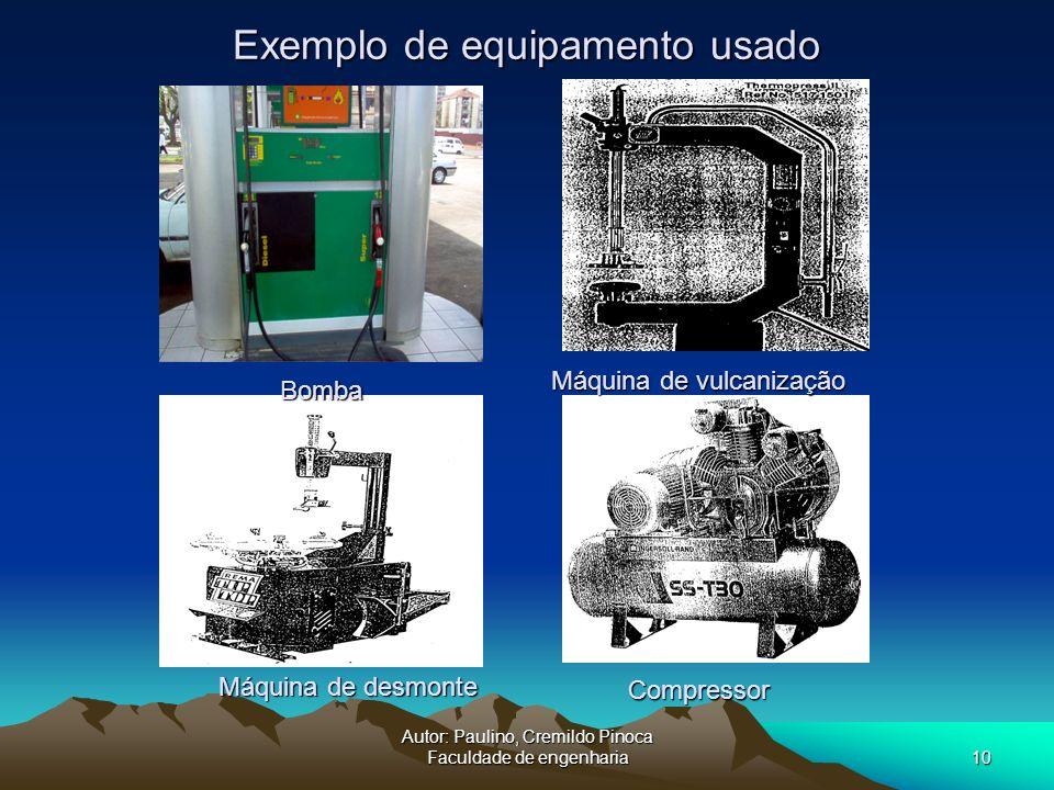 Exemplo de equipamento usado