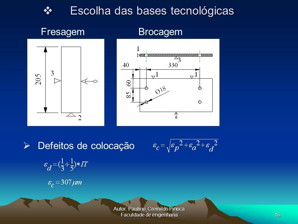 Autor: Paulino, Cremildo Pinoca Faculdade de engenharia