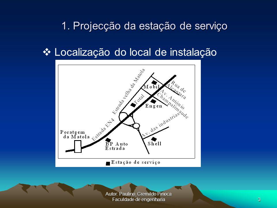 1. Projecção da estação de serviço