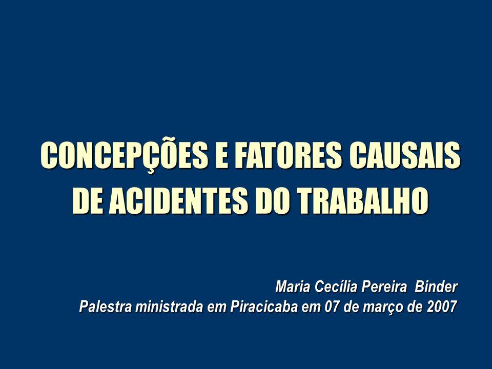 CONCEPÇÕES E FATORES CAUSAIS DE ACIDENTES DO TRABALHO