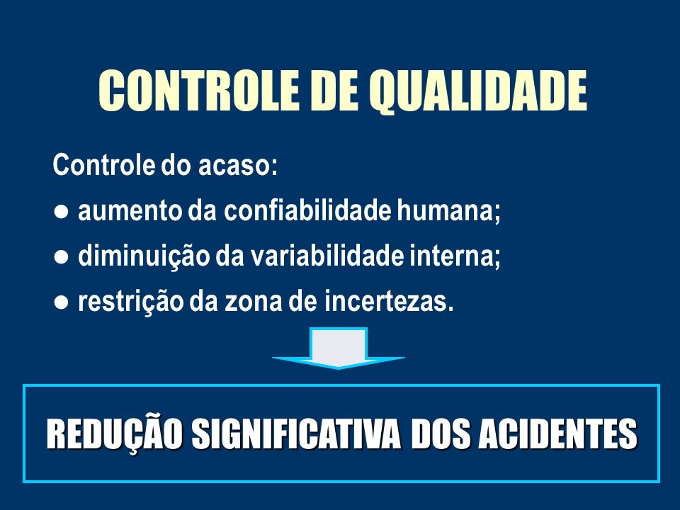 REDUÇÃO SIGNIFICATIVA DOS ACIDENTES