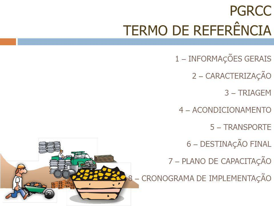 PGRCC TERMO DE REFERÊNCIA