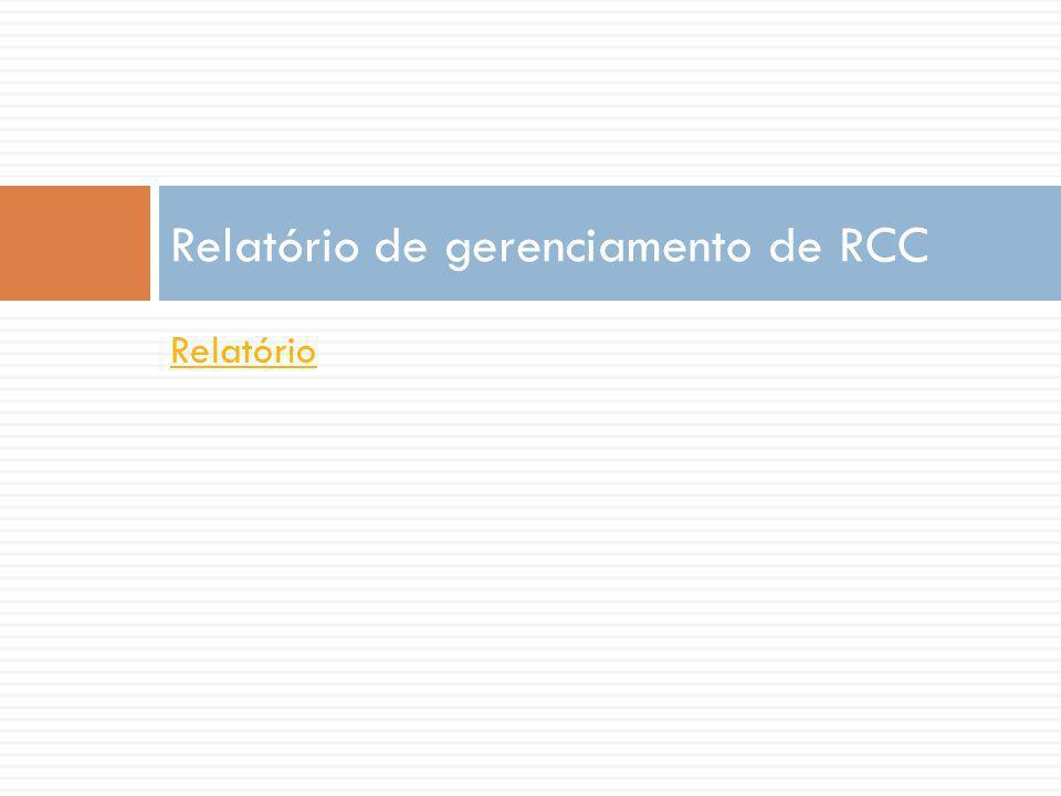 Relatório de gerenciamento de RCC