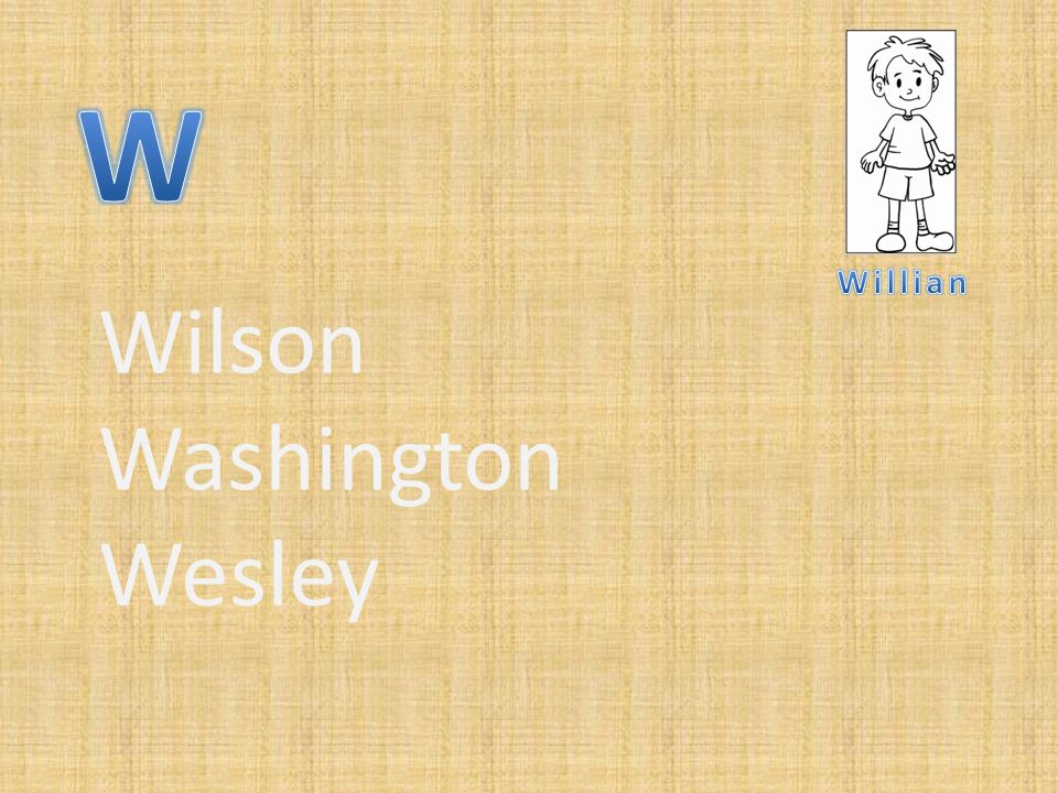 Wilson Washington Wesley