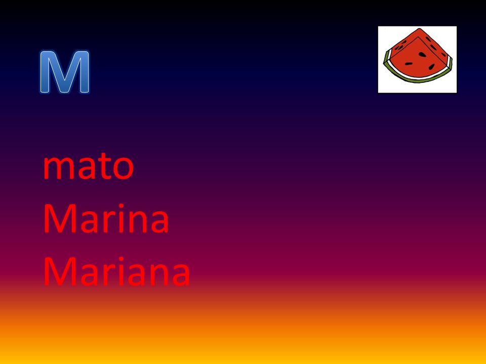 M mato Marina Mariana