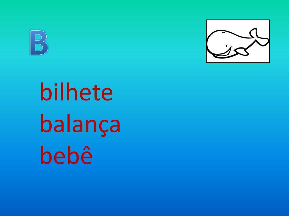 B bilhete balança bebê