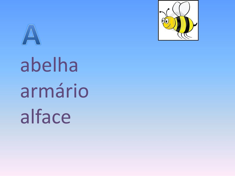 A abelha armário alface