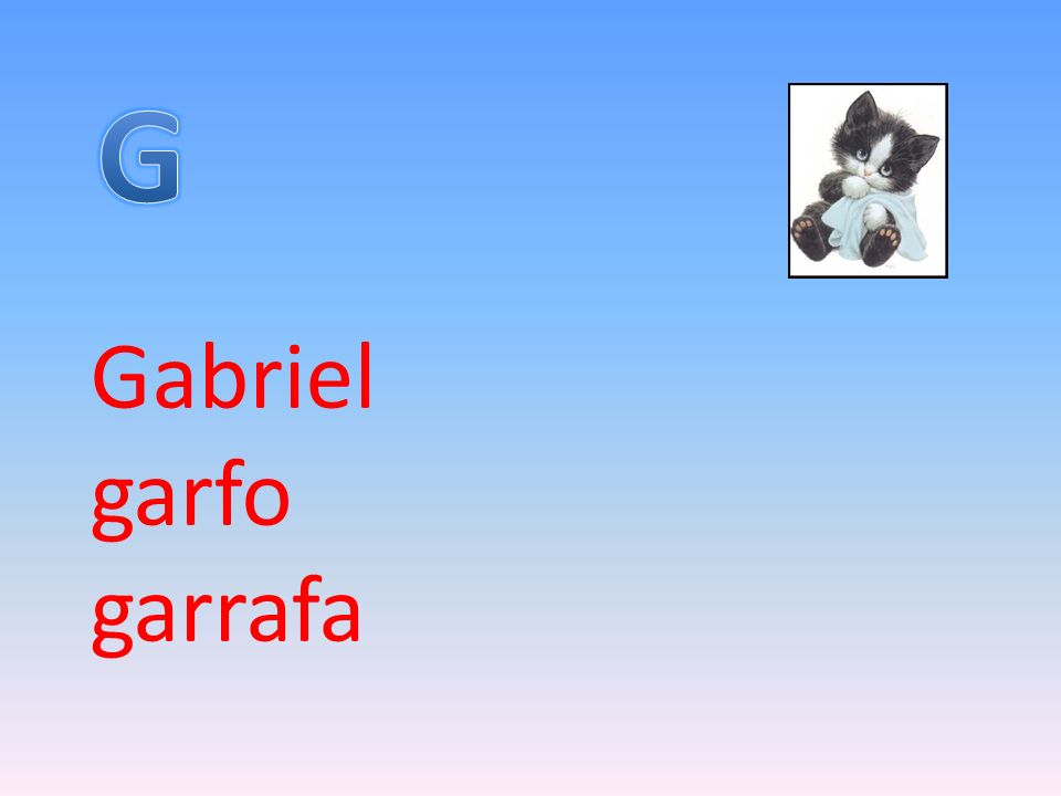 G Gabriel garfo garrafa