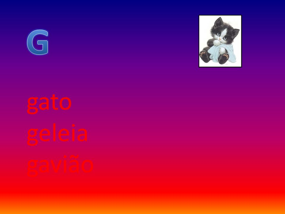 G gato geleia gavião