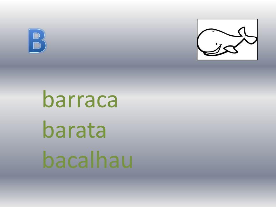 B barraca barata bacalhau