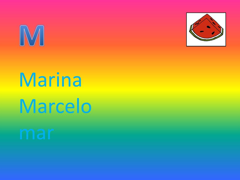 M Marina Marcelo mar