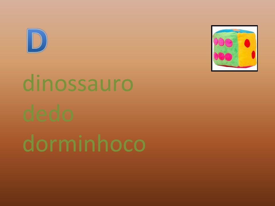 dinossauro dedo dorminhoco