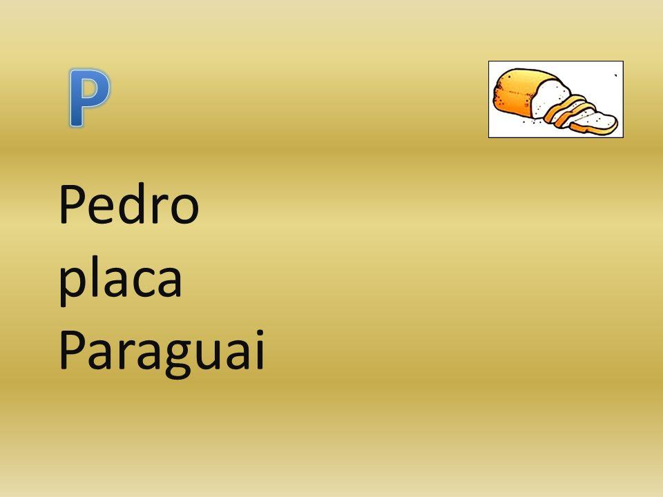 P Pedro placa Paraguai