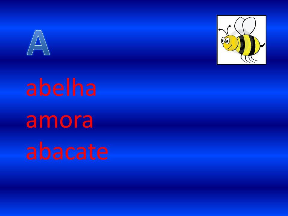 A abelha amora abacate