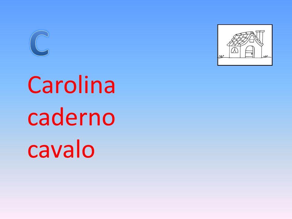 Carolina caderno cavalo