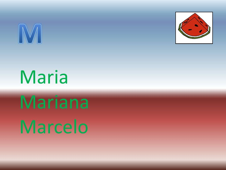 M Maria Mariana Marcelo